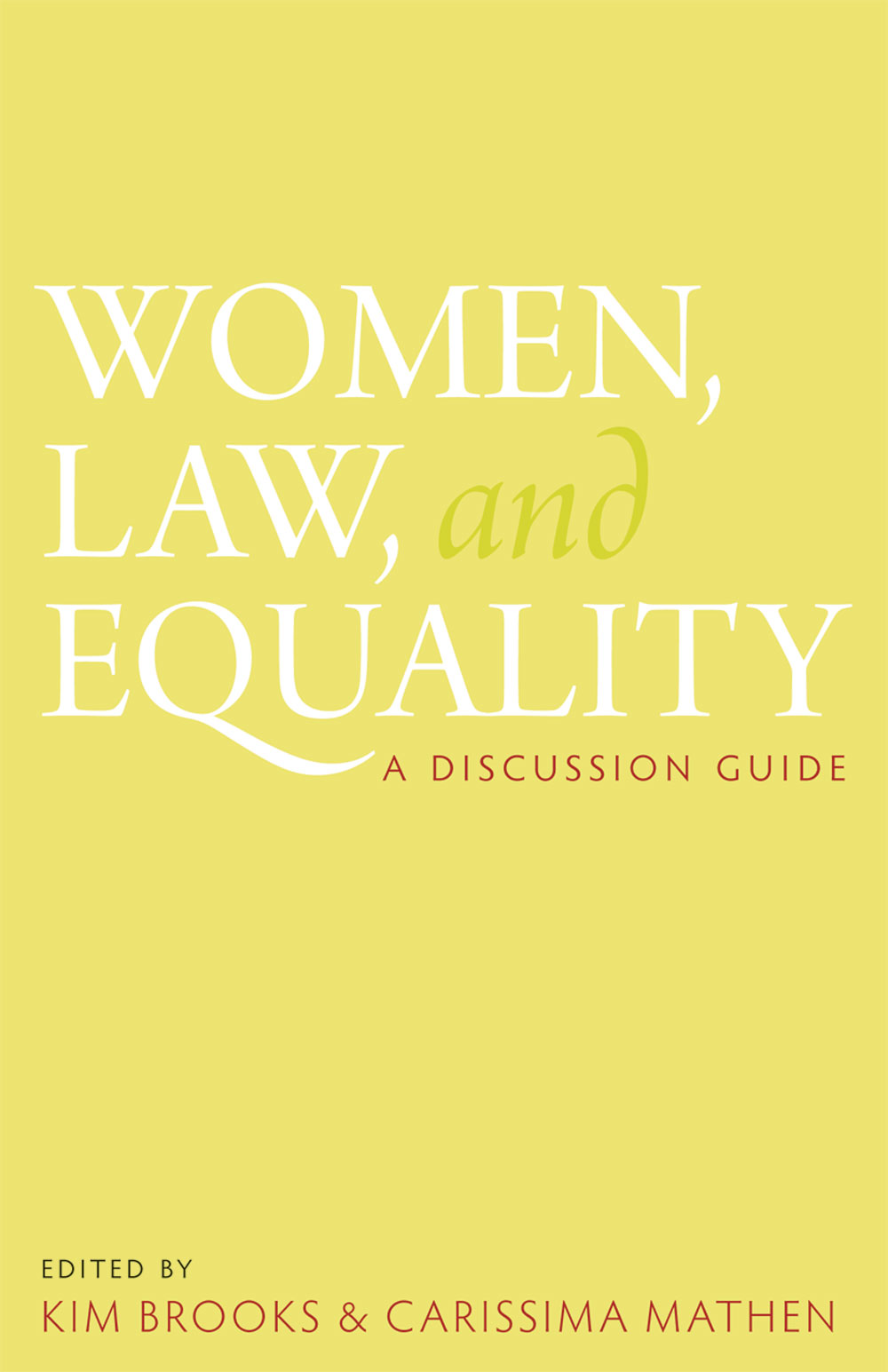 Women, Law and Equality