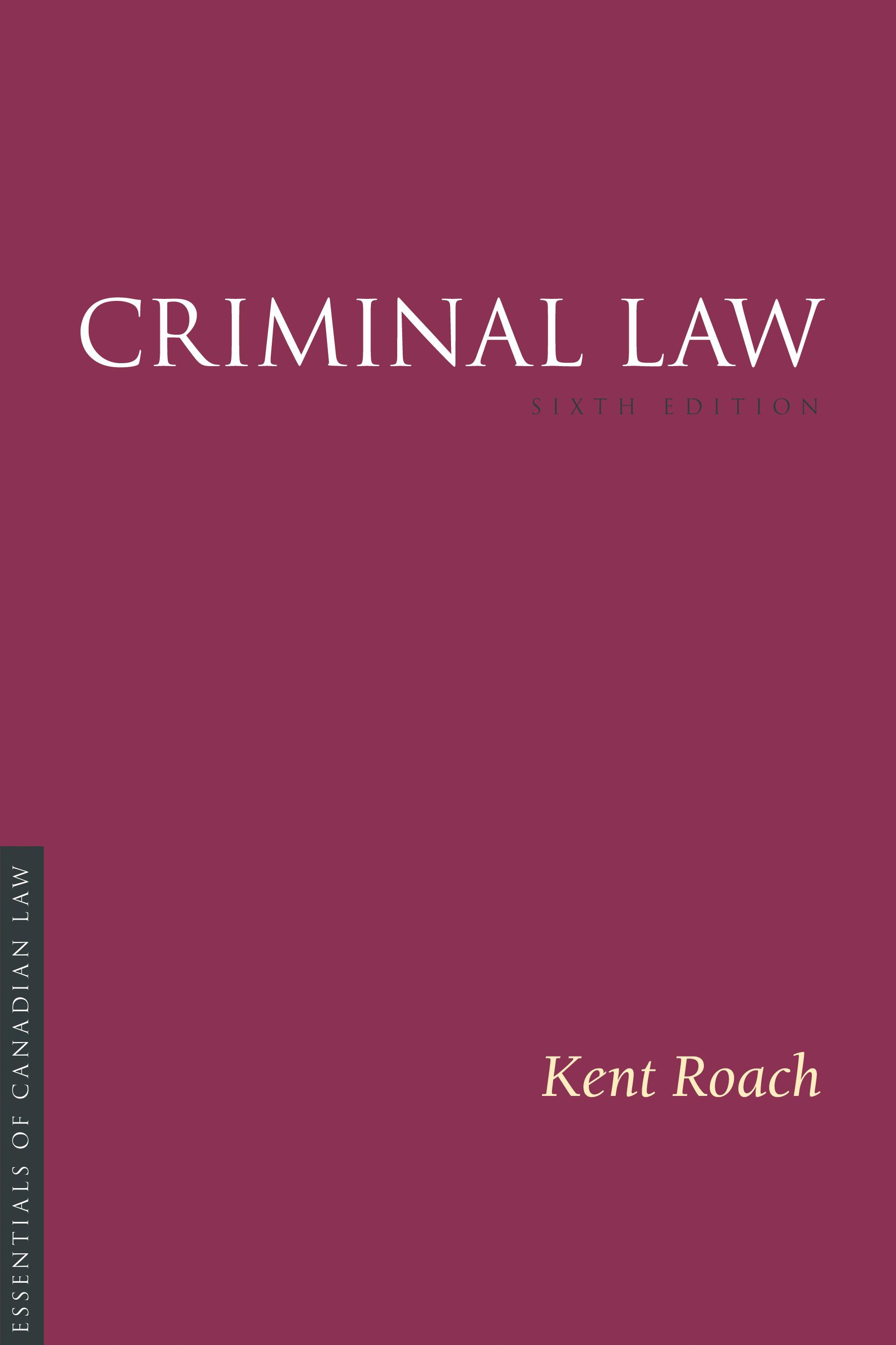 criminal law kent roach 6th edition pdf