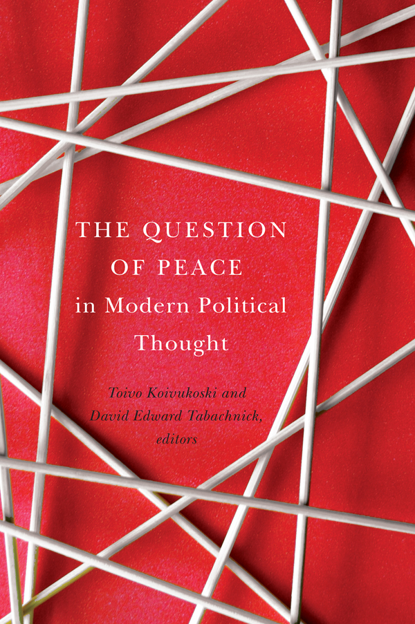Question of Peace in Modern Political Thought